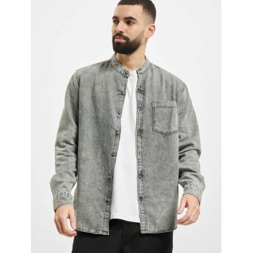 Urban Classics Chemise Low Collar gris