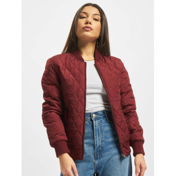 Urban Classics College Jacket Diamond Quilt Nylon red