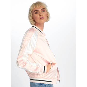 Urban Classics College Jacket 3 Tone Souvenir rose