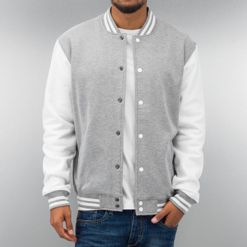 Urban Classics Collegejakker 2-Tone College Sweatjacket grå