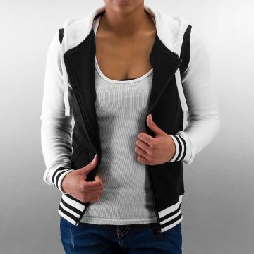 Urban Classics Hoodies con zip Ladies 2-Tone College nero