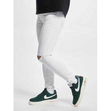 Urban Classics Jeans straight fit Ladies Cut Knee bianco