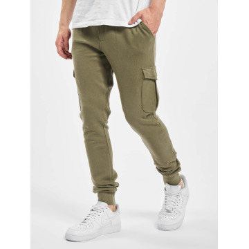 Urban Classics joggingbroek Fitted Cargo olijfgroen