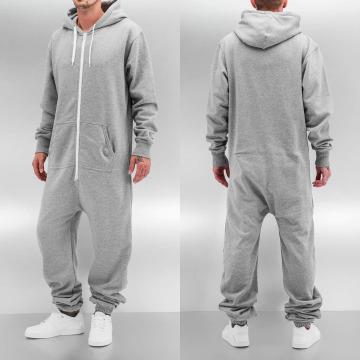 Urban Classics jumpsuit Sweat grijs