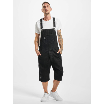 Urban Classics jumpsuit Denim zwart