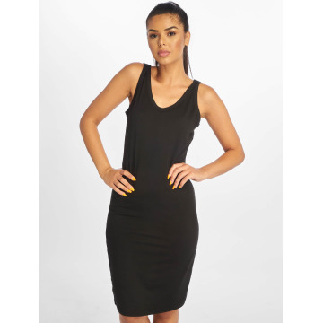 Urban Classics jurk Lace Up zwart