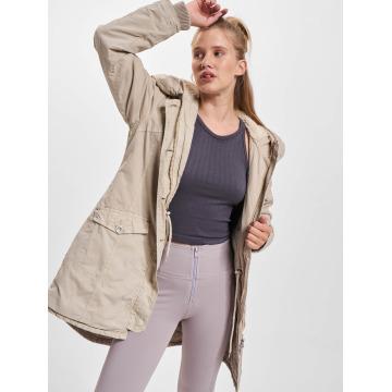 Urban Classics Kabáty Garment Washed Long béžová
