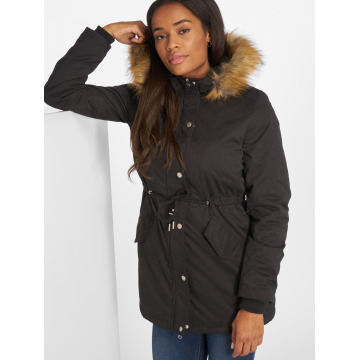 Urban Classics Kurtki zimowe Ladies Sherpa Lined Peached czarny