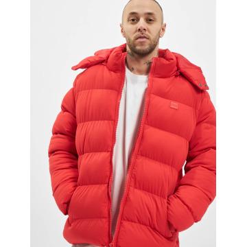 Urban Classics Kurtki zimowe Hooded Boxy Puffer czerwony