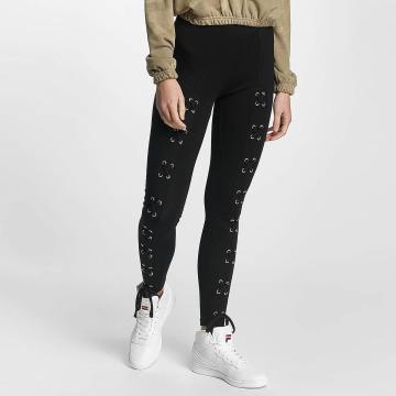 Urban Classics Legging Laced Up Front schwarz