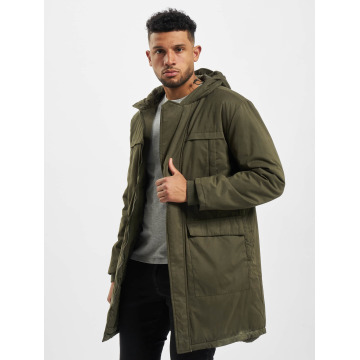 Urban Classics Manteau Cotton Peached Canvas olive