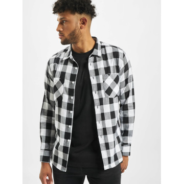 Urban Classics overhemd Checked Flanell wit