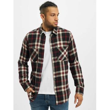 Urban Classics overhemd Checked Flanell 3 zwart