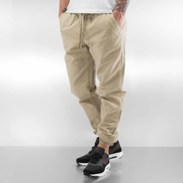 Urban Classics Pantalone ginnico Washed Canvas beige