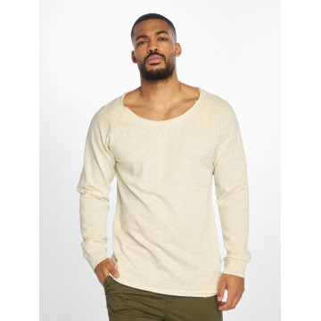 Urban Classics Pullover Long Open Edge Terry grau
