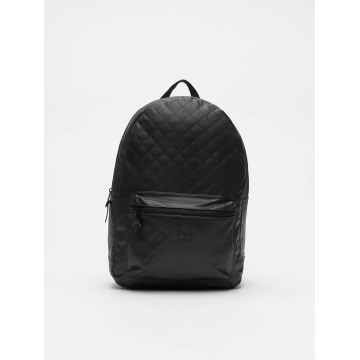 Urban Classics Reput Diamond Quilt Leather Imitation musta