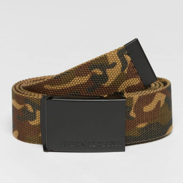 Urban Classics riem Long Canvas camouflage