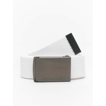Urban Classics riem Canvas wit