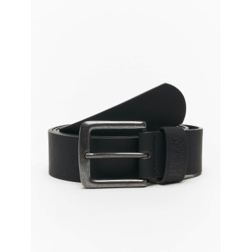 Urban Classics riem Leather Imitation zwart
