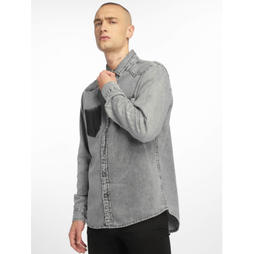 Urban Classics Shirt Denim Pocket gray