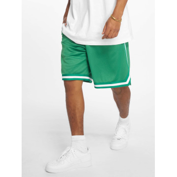 Urban Classics Short Stripes Mesh green