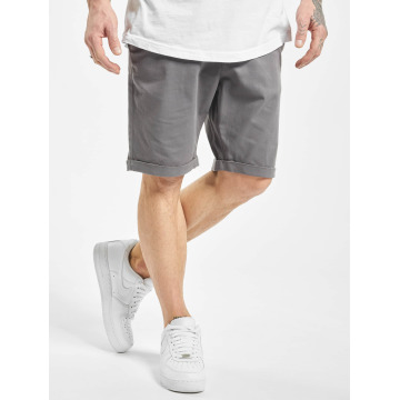 Urban Classics Short Stretch Turnup Chino gris