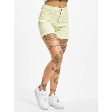 Urban Classics shorts Twill Highwaist Stretch geel