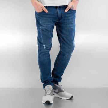 Urban Classics Skinny jeans Ripped blauw