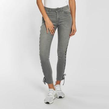 Urban Classics Skinny Jeans Lace Up Denim grey