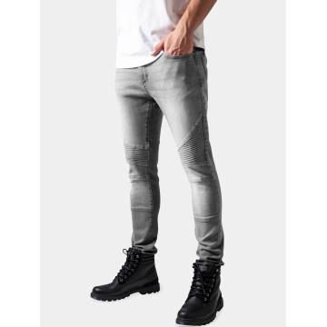 Urban Classics Skinny jeans Slim Fit Biker grijs