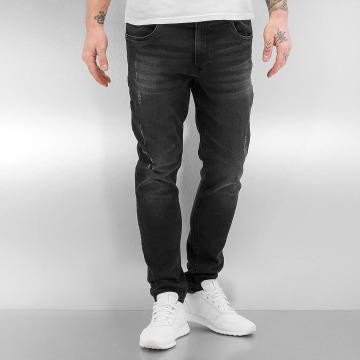Urban Classics Skinny Jeans Ripped schwarz