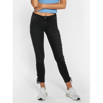 Urban Classics Skinny Jeans Lace Up Denim schwarz