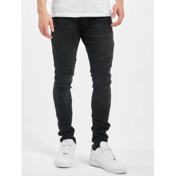 Urban Classics Skinny jeans Slim Fit Biker zwart