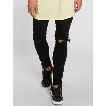 Urban Classics Slim Fit Jeans Knee Cut sort