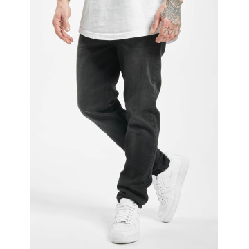 Urban Classics Straight Fit Jeans Stretch Denim sort