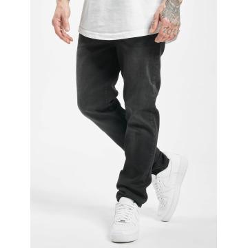Urban Classics Straight Fit Jeans Stretch Denim svart