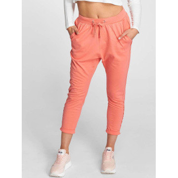 Urban Classics Sweat Pant Open Edge Terry Turn Up rose