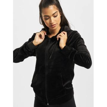 Urban Classics Sweatvest Ladies Velvet zwart