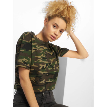 Urban Classics T-paidat Cropped Oversize camouflage