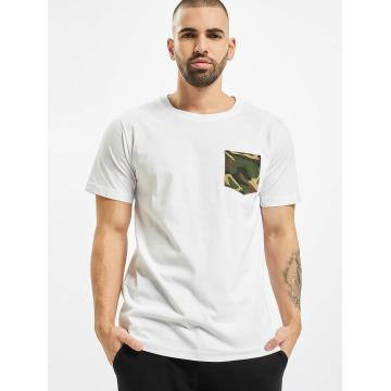 Urban Classics T-paidat Camo Pocket valkoinen