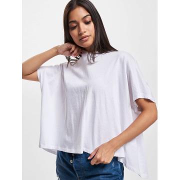 Urban Classics T-Shirt Overlap Turtleneck blanc