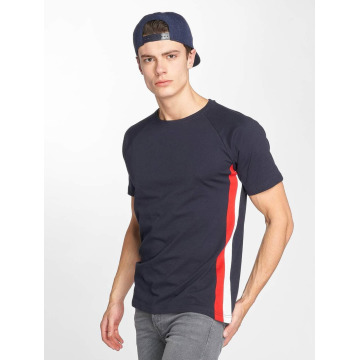 Urban Classics t-shirt Side Stripe Raglan blauw