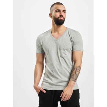 Urban Classics T-Shirt Pocket gris