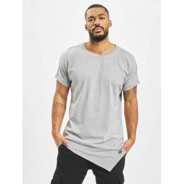 Urban Classics T-Shirt Asymetric Long gris