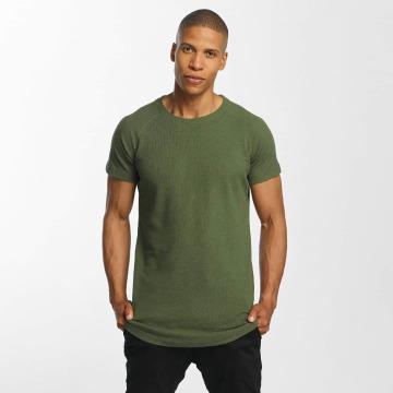 Urban Classics t-shirt Thermal Slub olijfgroen