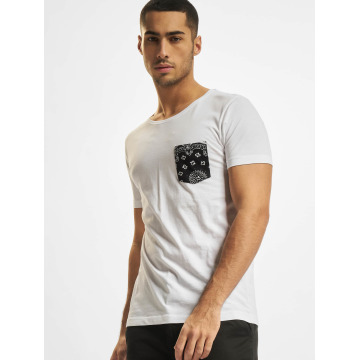 Urban Classics t-shirt Contrast Pocket wit