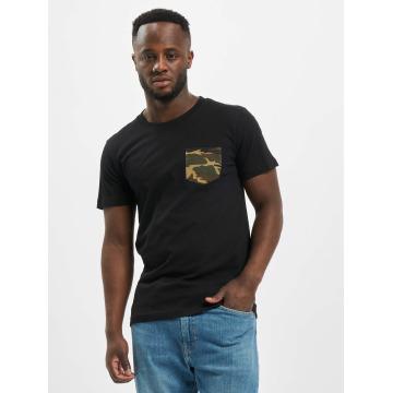 Urban Classics t-shirt Camo Pocket zwart