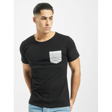 Urban Classics t-shirt Contrast Pocket zwart