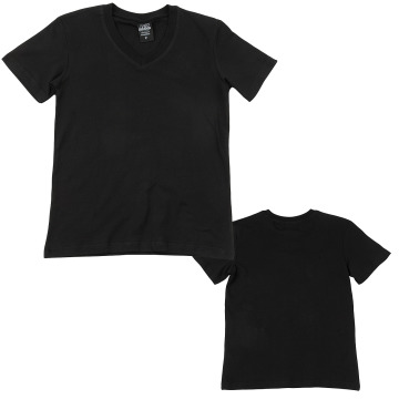 Urban Classics t-shirt Kids Basic V-Neck zwart