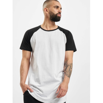 Urban Classics Tall Tees Shaped Raglan Long белый